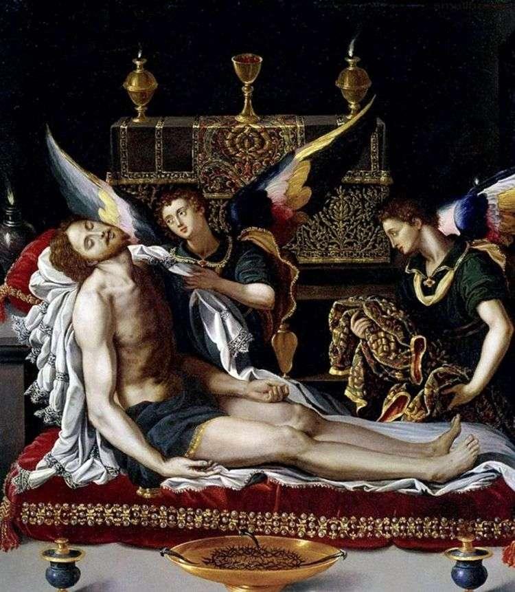 Два ангела у тела Христа   Алессандро Аллори