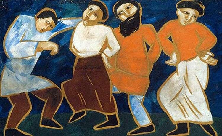 Крестьянские танцы   Наталья Гончарова