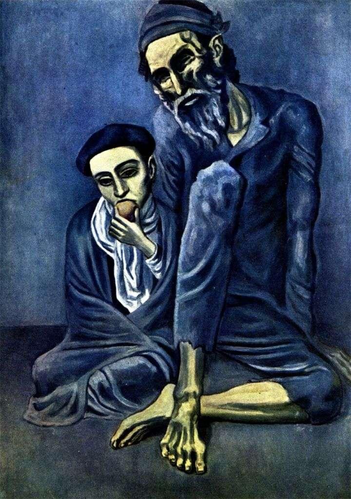 Слепой нищий с мальчиком   Пабло Пикассо