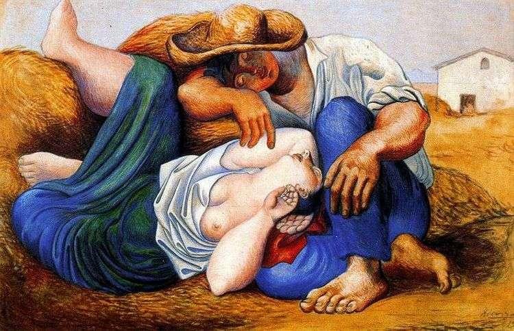 Спящие крестьяне   Пабло Пикассо
