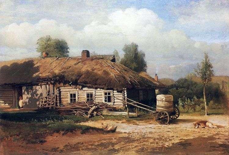 Пейзаж с избушкой   Алексей Саврасов