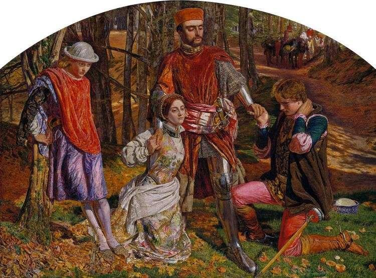 Валентин, спасающий Сильвию от Протея   Уильям Холман Хант