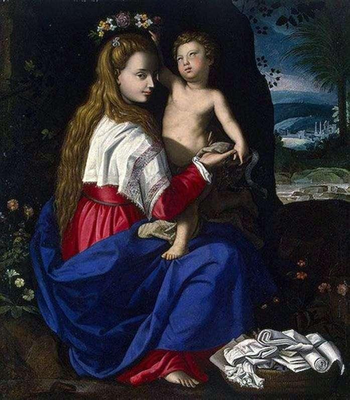 Мадонна с младенцем   Алессандро Аллори