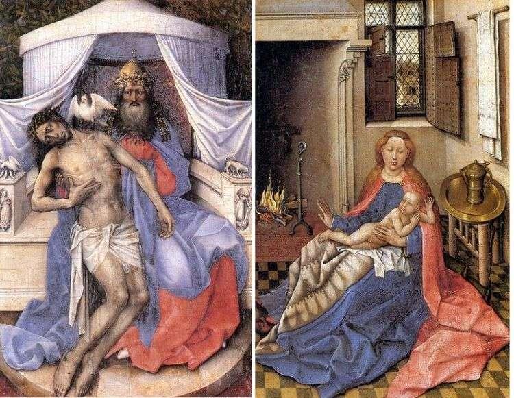 Троица. Мадонна с младенцем (диптих)   Робер Кампен
