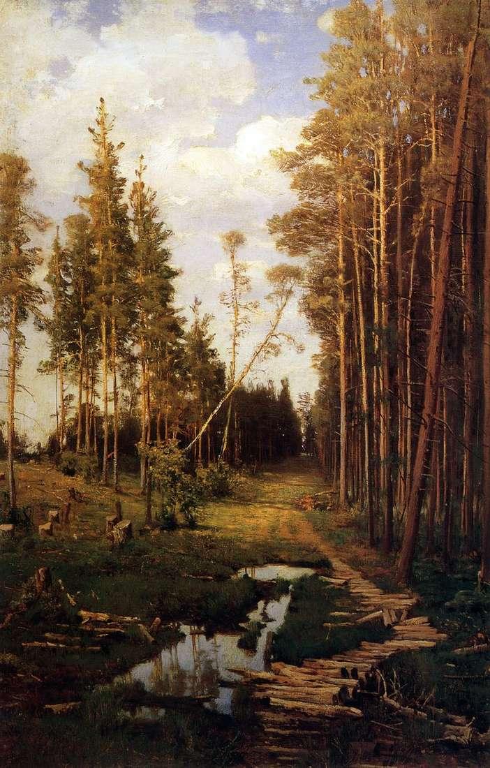 Просека в сосновом лесу   Алексей Саврасов