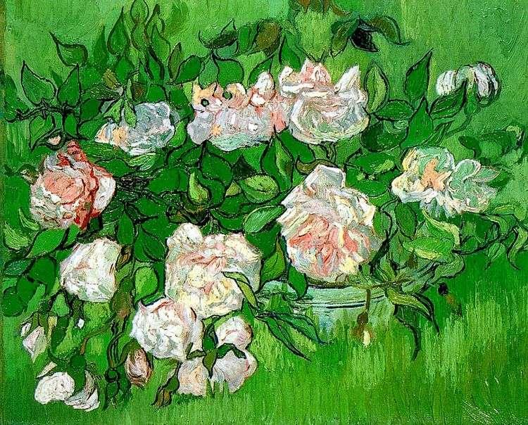 Розовые розы   Винсент Ван Гог