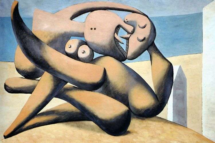 Фигуры на берегу моря   Пабло Пикассо