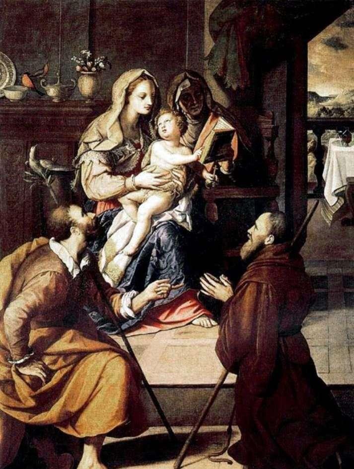 Святое семейство и кардинал Медичи   Алессандро Аллори