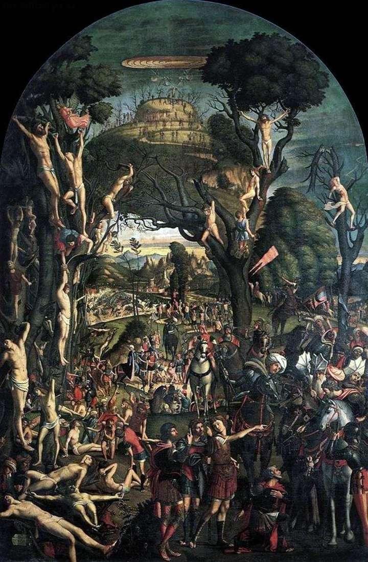 Распятие и умерщвление десяти тысяч на горе Арарат   Витторе Карпаччо