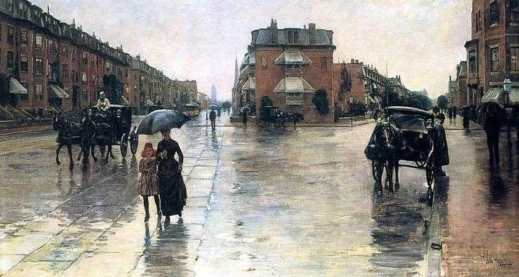 Дождливый день в Бостоне   Чайлд Хассам