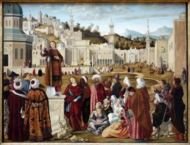 Святой Стефан проповедующий   Витторе Карпаччо