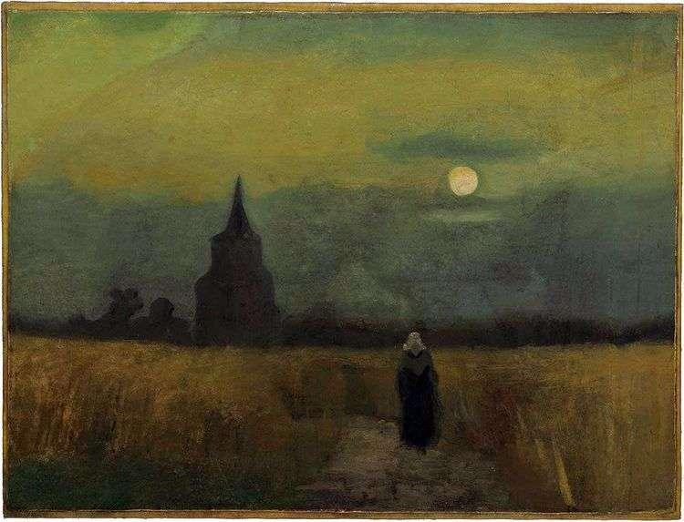 Старая башня среди полей   Винсент Ван Гог