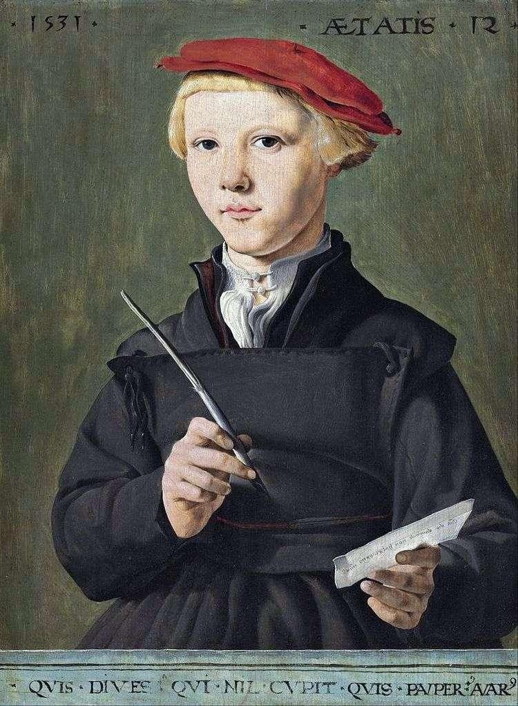 Портрет школьника   Мартен ван Хемскерк