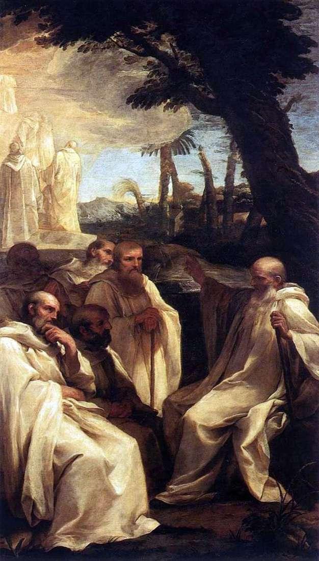 Видение святого Ромуальда   Андреа Сакки