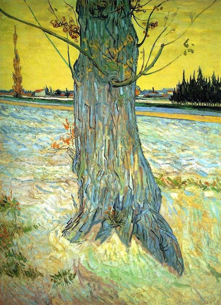 Ствол старого тиса   Винсент Ван Гог