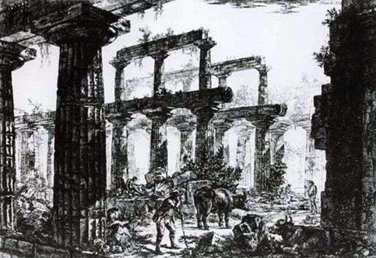 Руины храма Нептуна в Пестуме   Джованни Пиранези