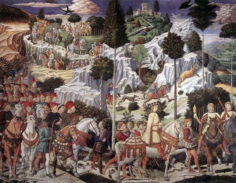 Шествие волхвов   Беноццо Гоццоли