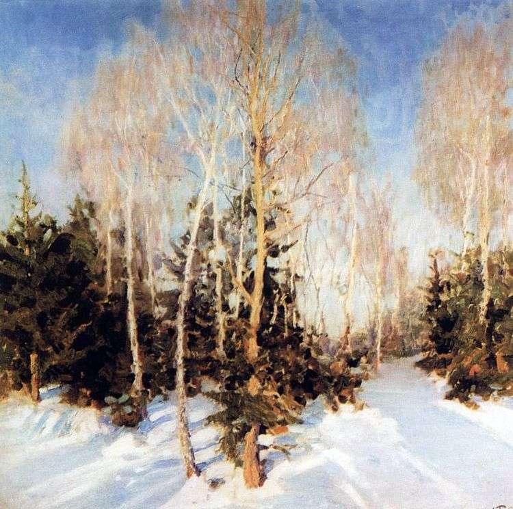 Зимний пейзаж   Игорь Грабарь
