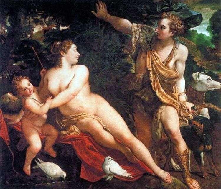 Венера, Адонис и Амур   Аннибале Карраччи