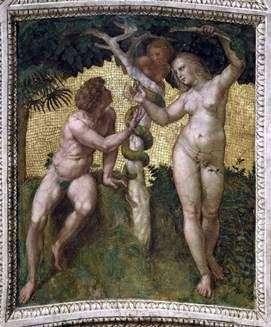 Адам и Ева   Рафаэль Санти