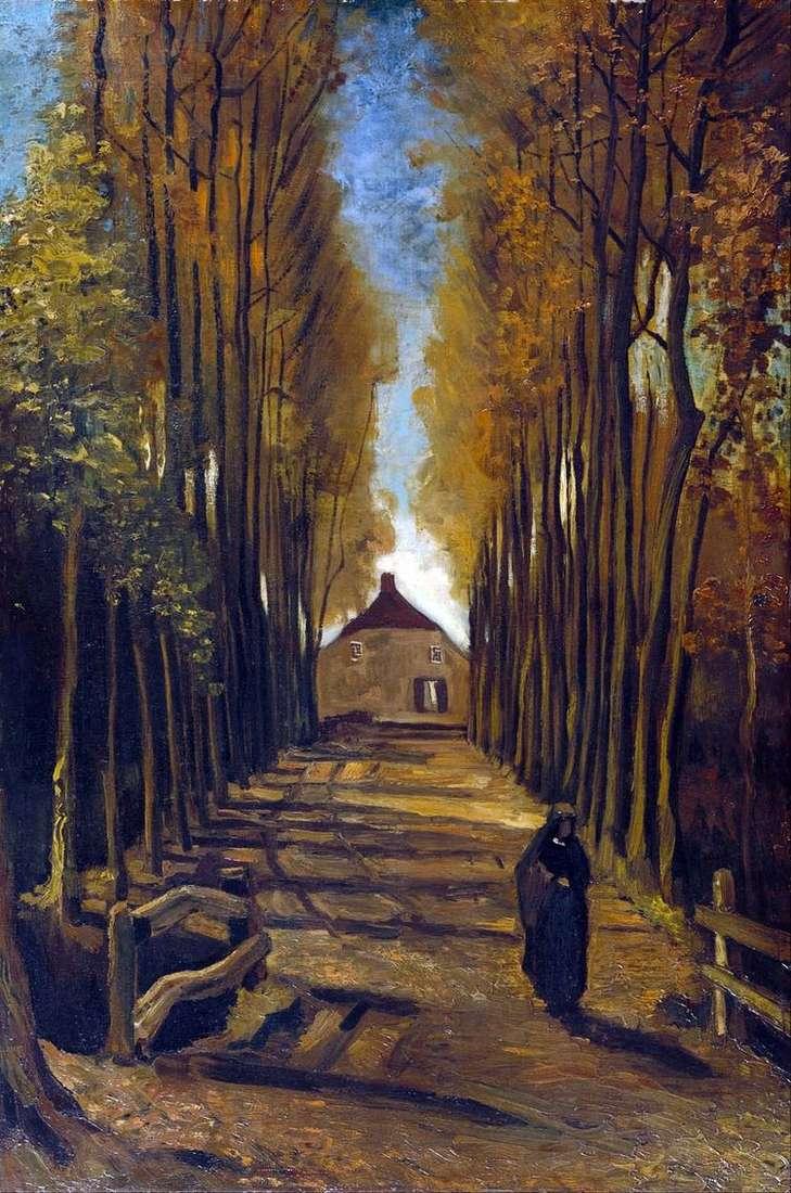 Тополиная аллея осенью   Винсент Ван Гог
