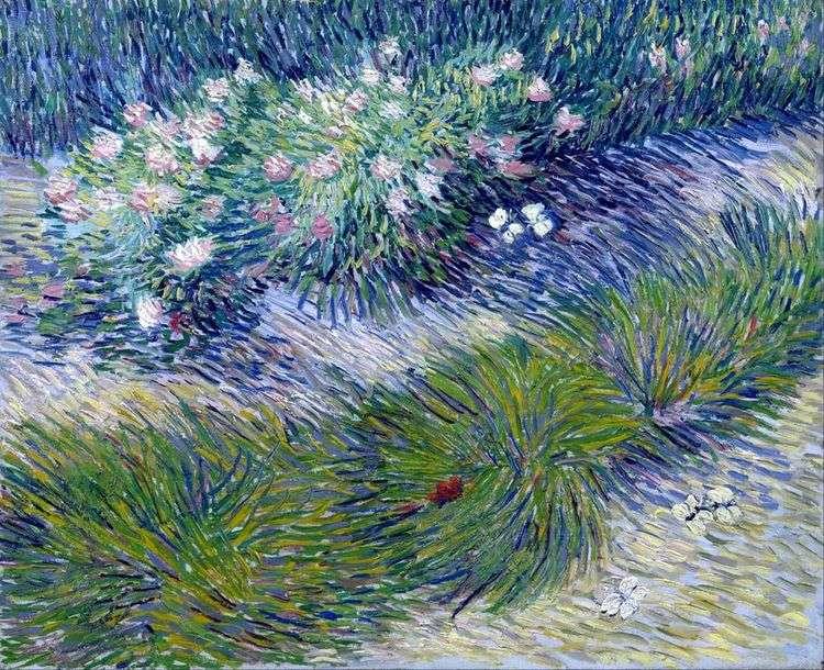 Трава и бабочки   Винсент Ван Гог