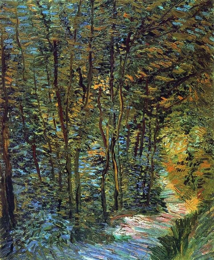 Тропинка в лесу   Винсент Ван Гог