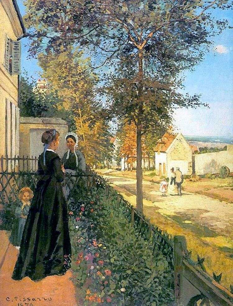 Лувесьенн. Дорога в Версаль (Дорога из Версаля в Лювесьен)   Камиль Писсарро