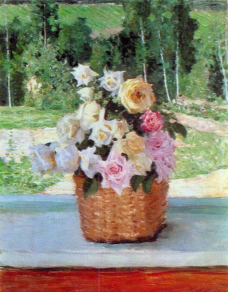 Розы на окне   Игорь Грабарь