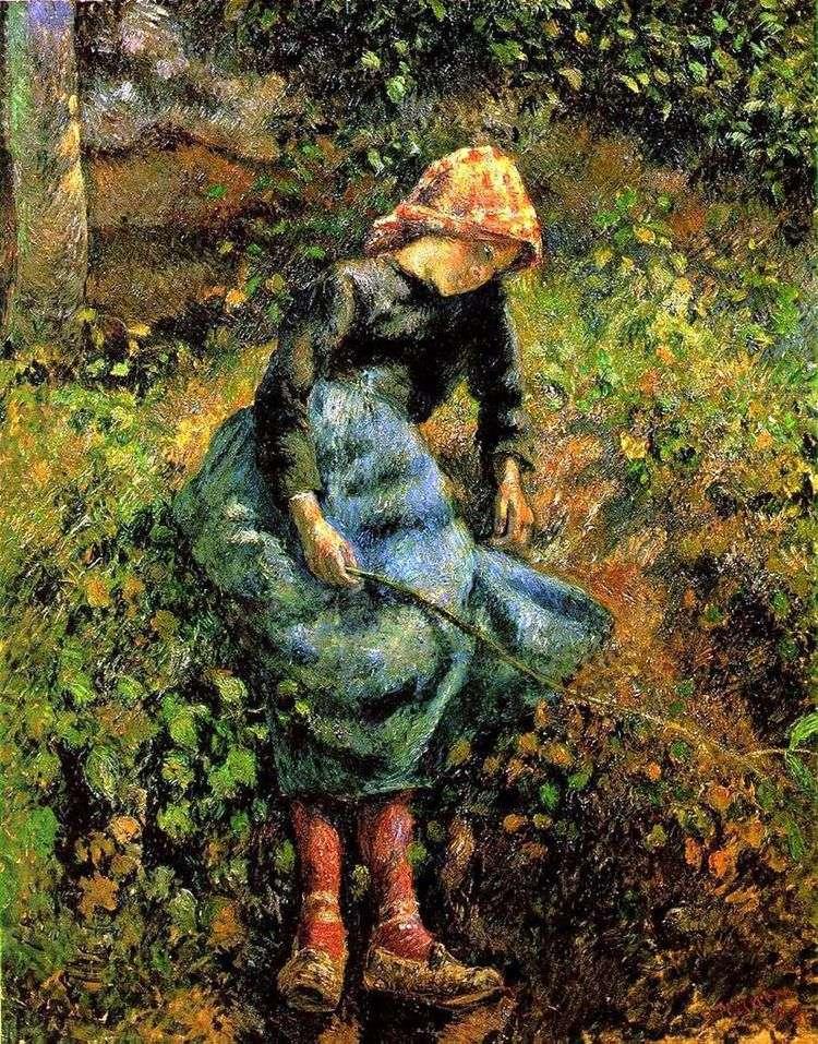 Пастушка (Девочка с прутом)   Камиль Писсарро