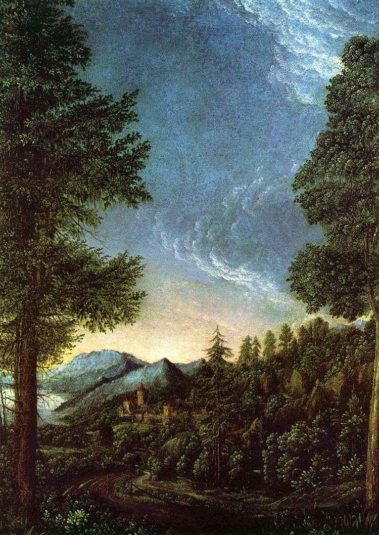 Вид на долину Дуная под Регенсбургом   Альбрехт Альтдорфер