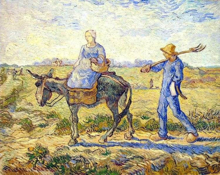 Утро: отправление на работу (по Милле)   Винсент Ван Гог
