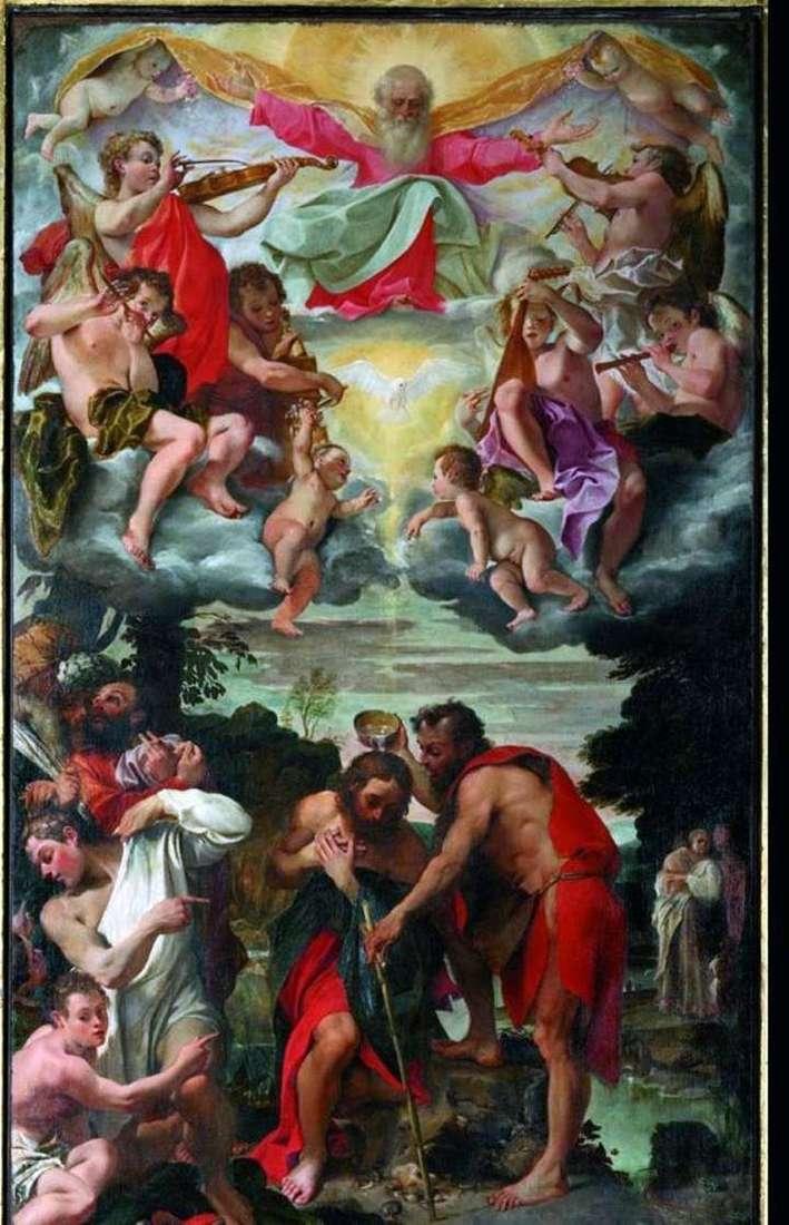 Крешение Христа   Аннибале Карраччи