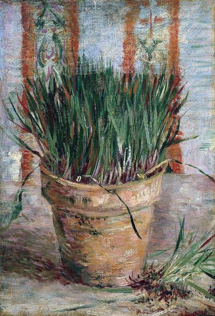 Цветочный горшок с луком   Винсент Ван Гог
