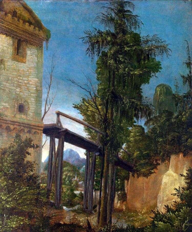 Пейзаж с мостом   Альбрехт Альтдорфер