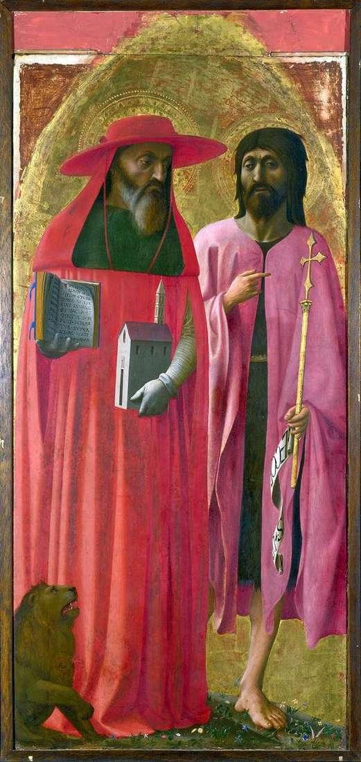 Святые Иероним и Иоанн Креститель   Томмазо ди Джованни Мазаччо