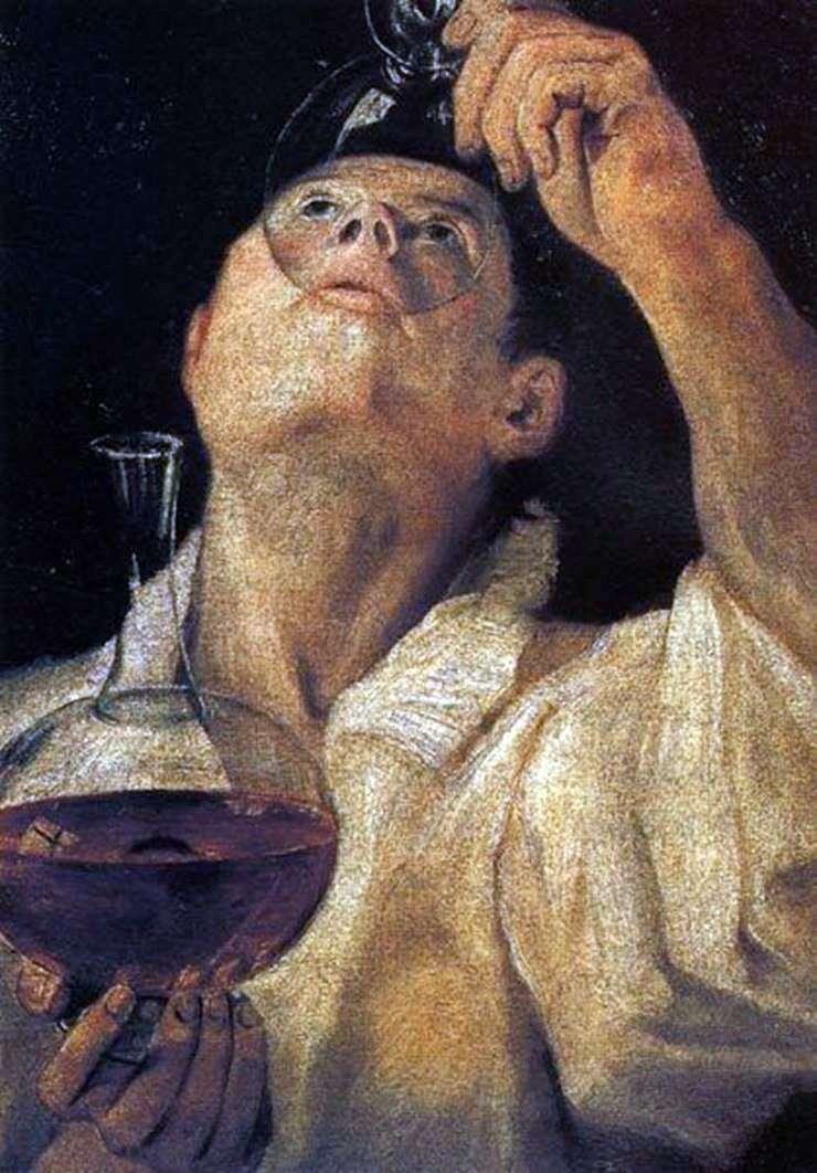 Портрет пьющего юноши   Аннибале Карраччи