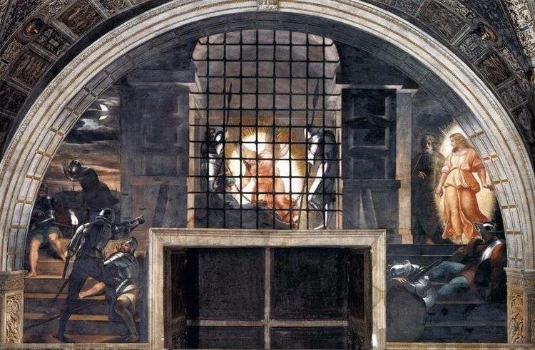 Изведение Святого Апостола Петра из темницы   Рафаэль Санти