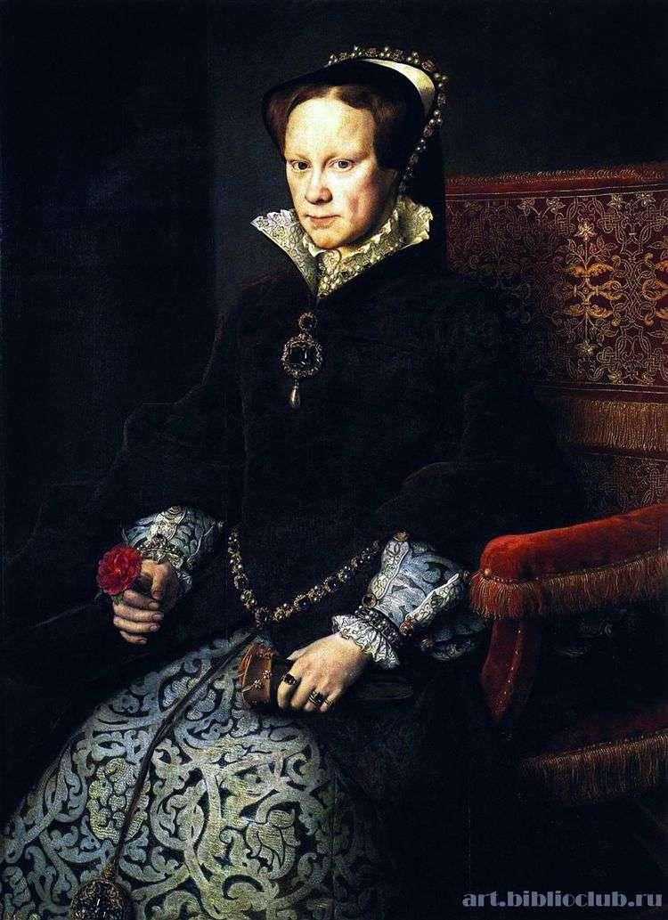 Портрет Марии Тюдор   Антонис Моро ван Дасхорст