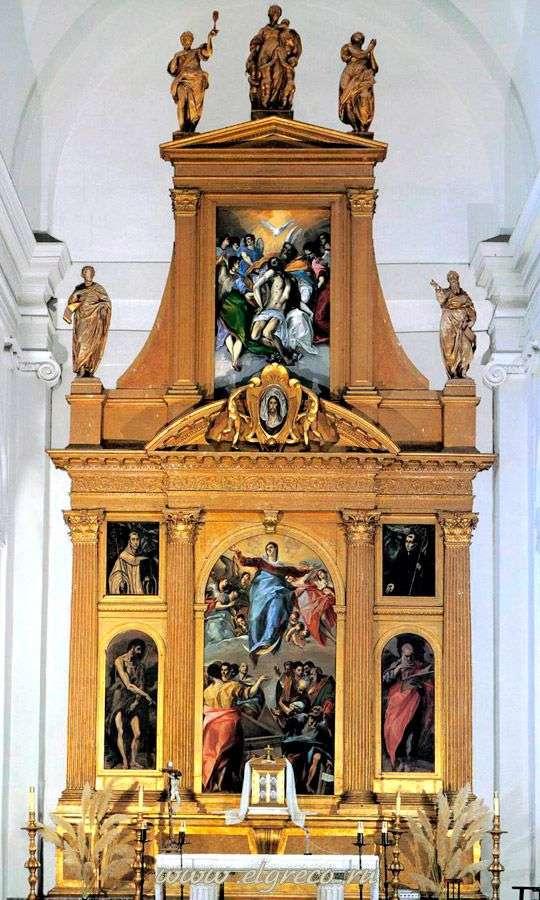 Алтарь церкви Санто Доминго эль Антигуо в Толедо   Эль Греко