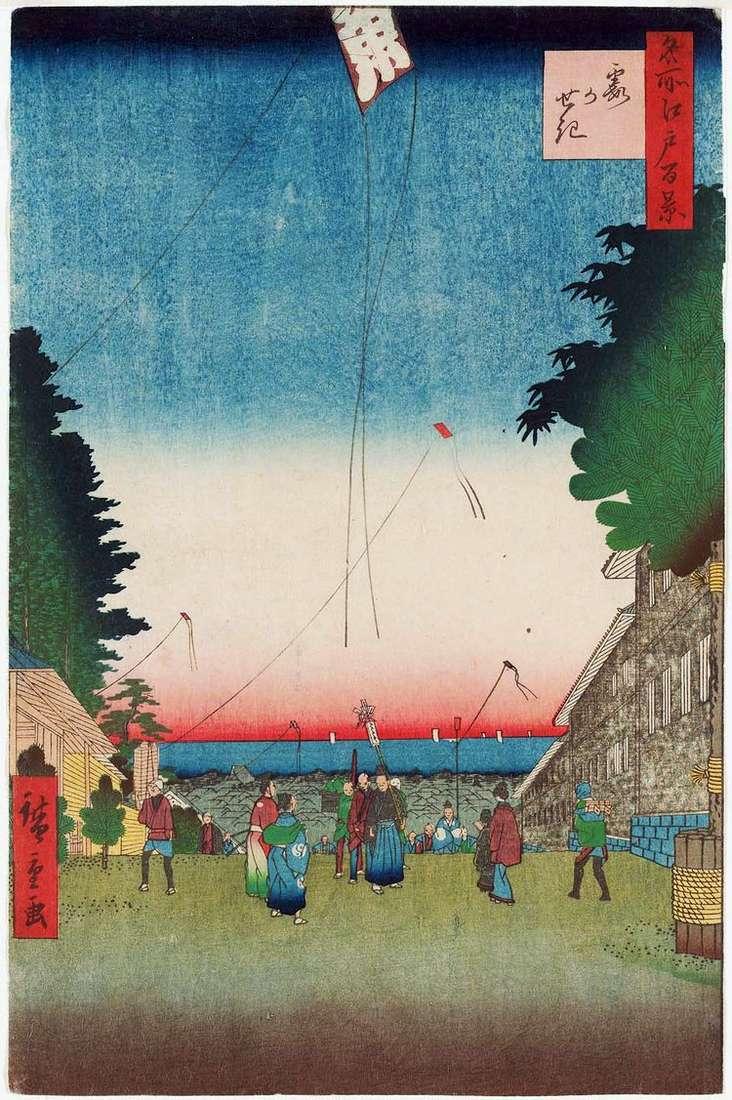 Застава туманов   Утагава Хиросигэ
