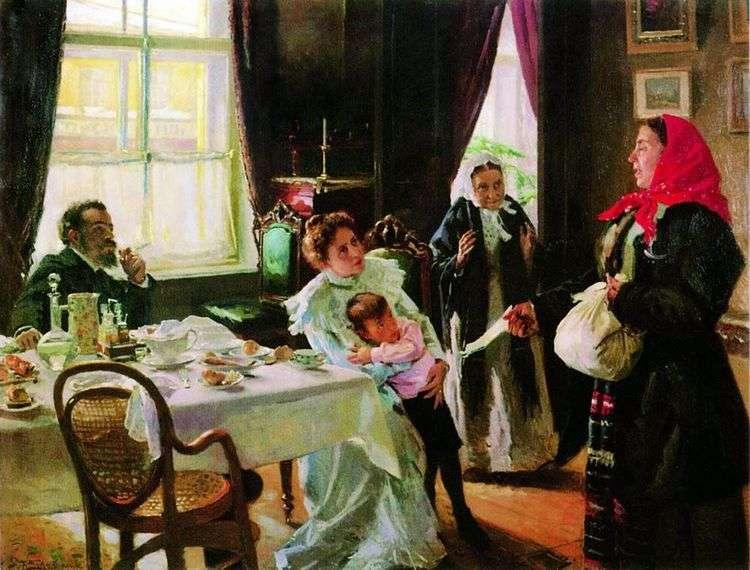 Две матери. Мать приемная и родная   Владимир Маковский