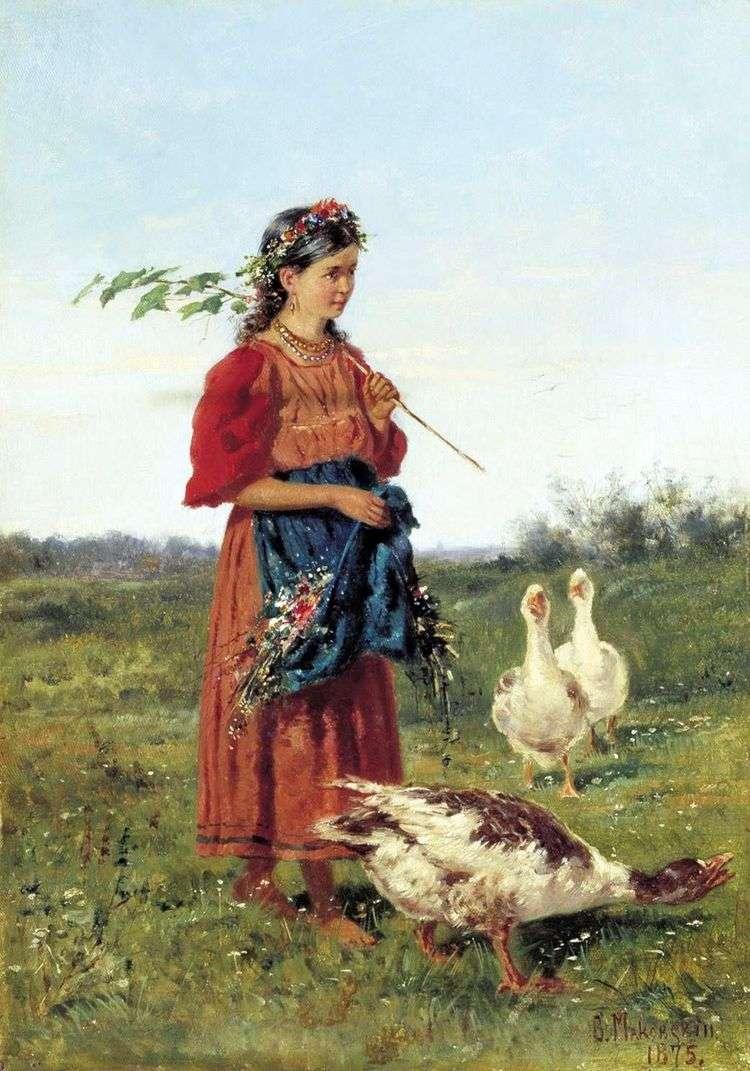 Девочка с гусями   Владимир Маковский