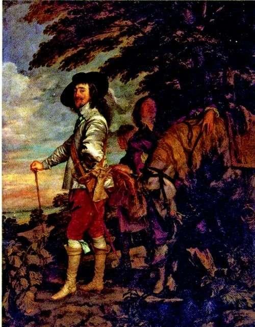 Карл I, король Англии, на охоте   Энтони Ван Дейк