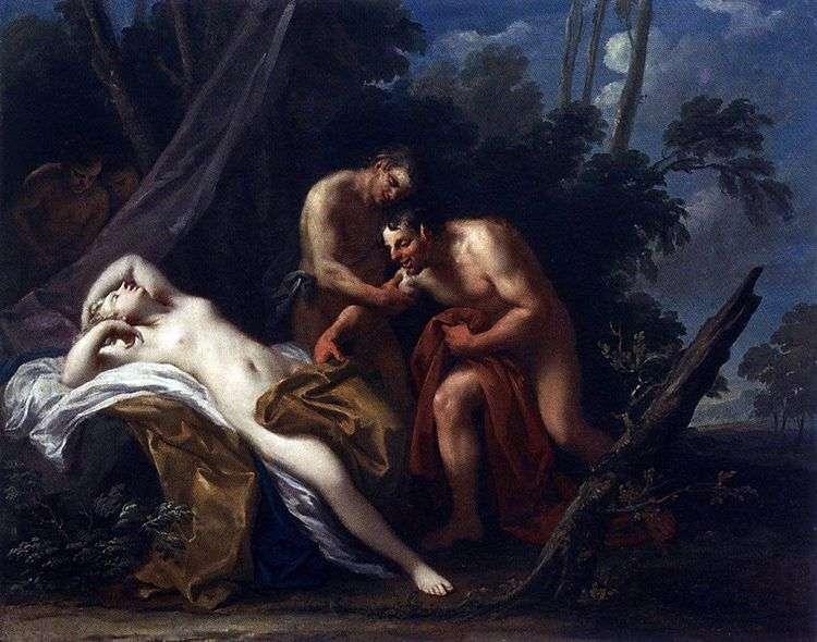 Сатир и спящая нимфа   Якопо Амигони