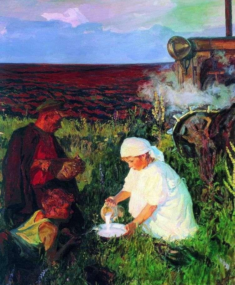 Ужин трактористов   Аркадий Пластов