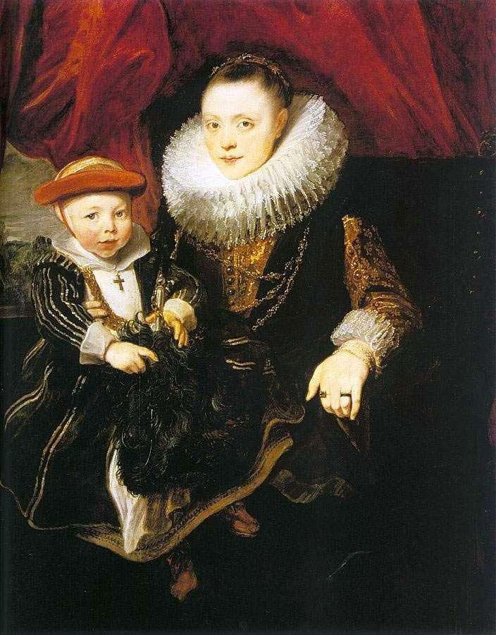 Молодая женщина с ребенком   Энтони Ван Дейк