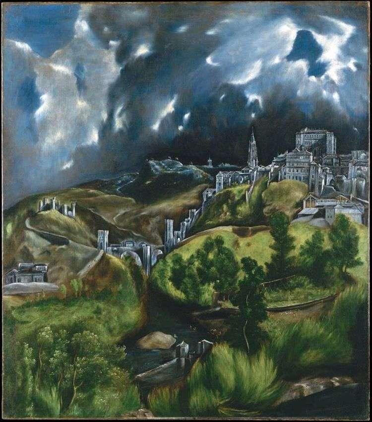 Вид Толедо   Эль Греко