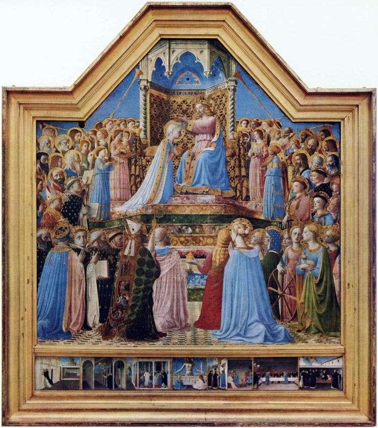 Коронование Девы Марии   Фра Беато Анджелико
