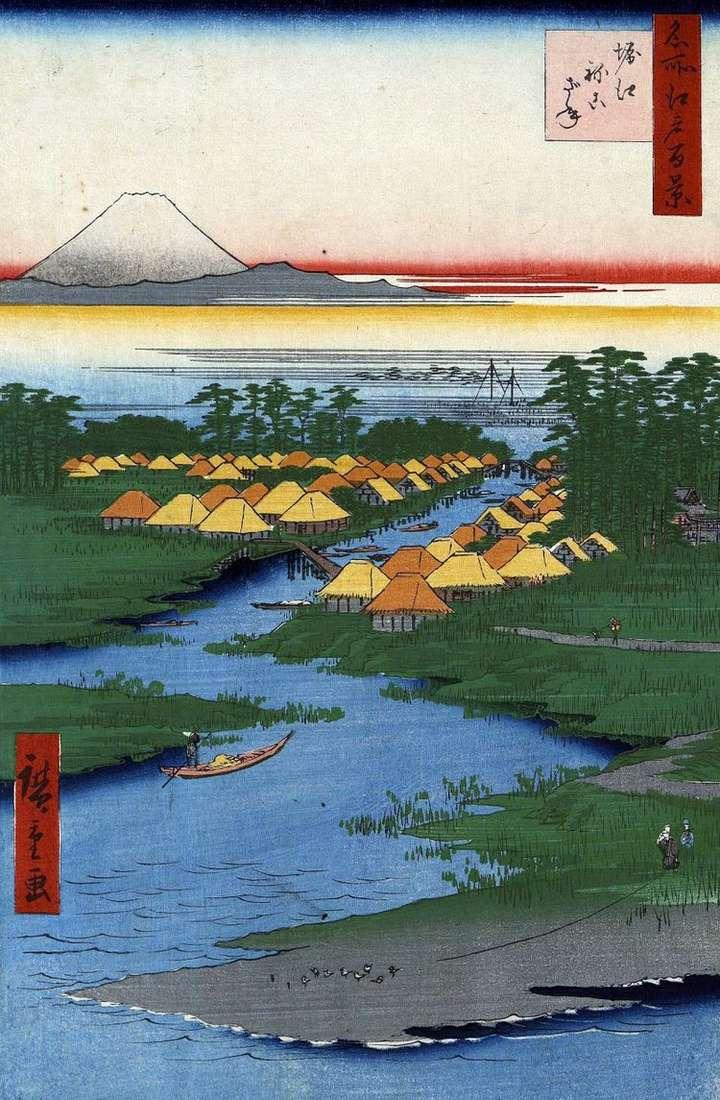 Местность Хориэ и Нэкодзанэ   Утагава Хиросигэ